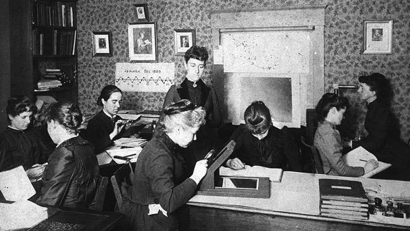 Un grupo de computadoras de Harvard