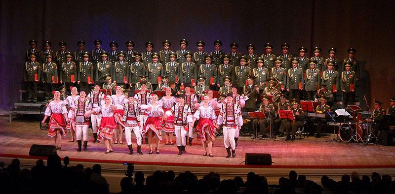 El coro del Ejército Rojo en 2009
