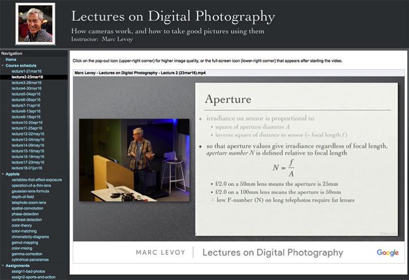 Curso de fotografía en línea de MarcLevoy