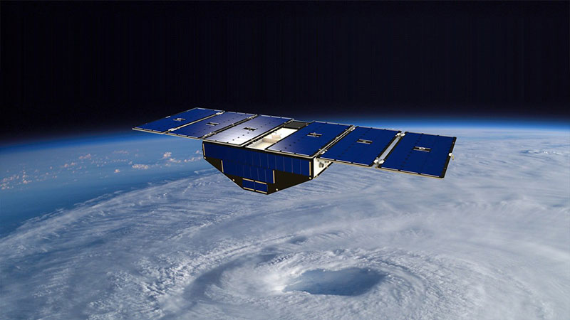 Impresión artística de un Cygnss en órbita