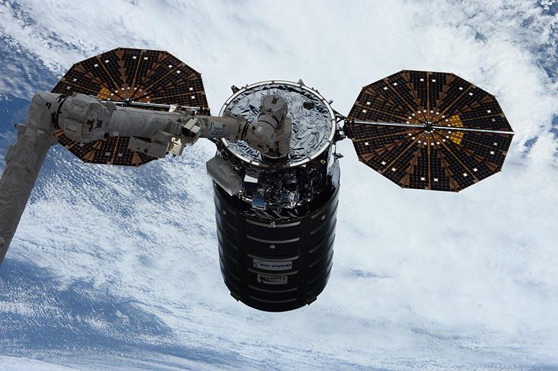 La Cygnus OA-7 capturada por la EEI