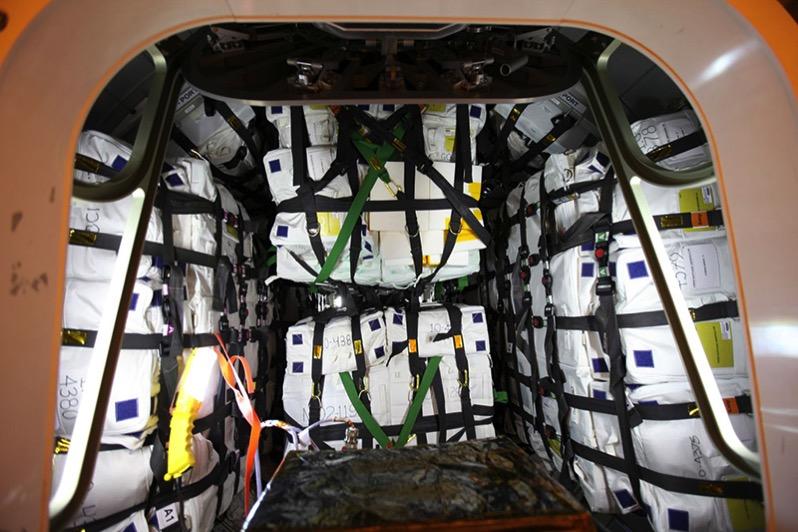 Compartimento presurizado de la Cygnus 7