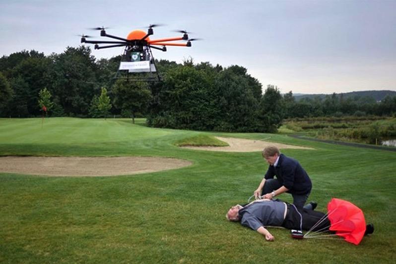 Desfibirlador vía dron - Universidad de Delft