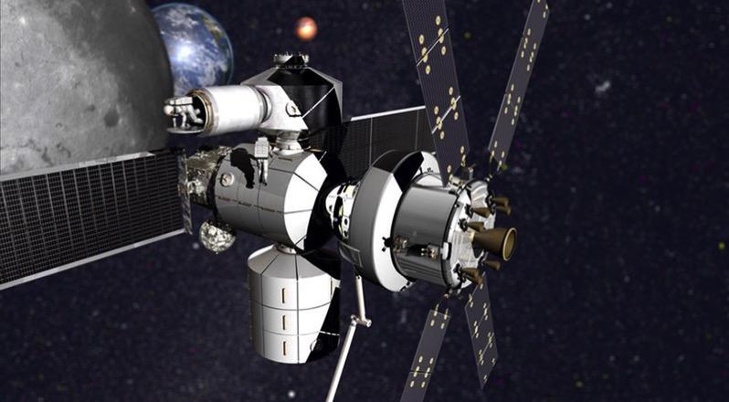 Concepto de estación lunar por Lockheed Martin