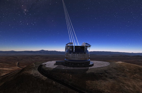 El Extremely Large Telescope en acción