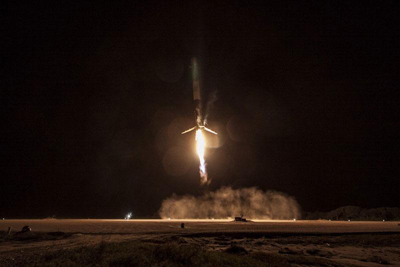 Aterrizaje tras el lanzamiento de la Dragon 9