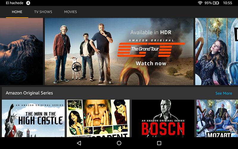 Amazon Prime Vídeo en el HD 8