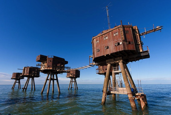 Fuerte Maunsell del ejército en Red Sands