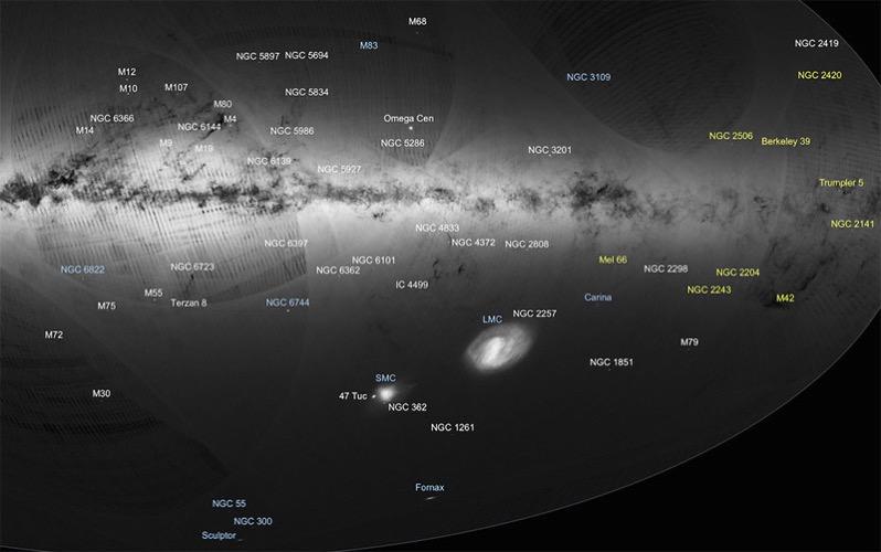 Una pequeña parte del primer catálogo de Gaia