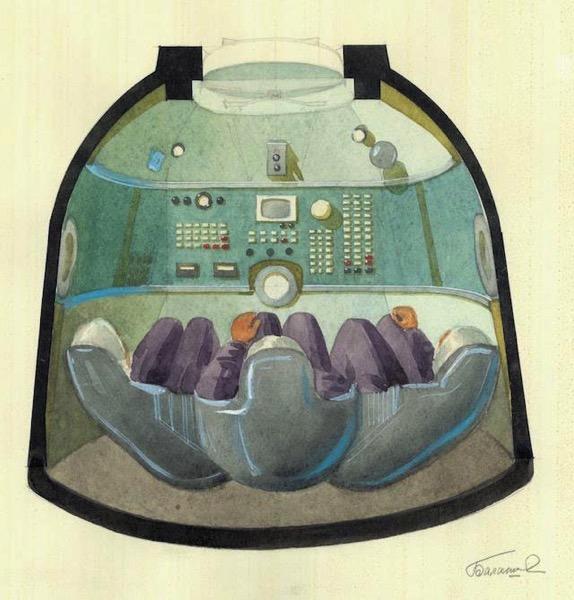 Interior de la Soyuz por Galina Balashova