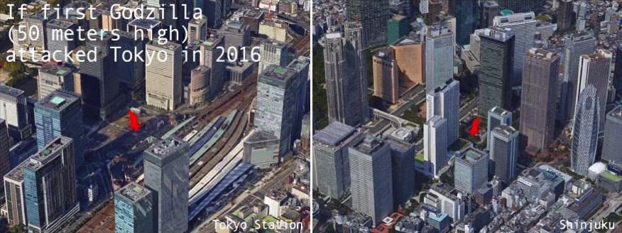 Godzilla en el Tokyo de 2016