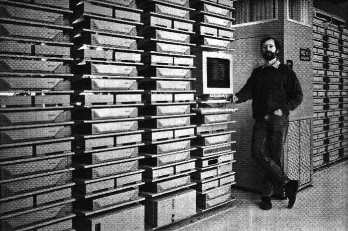 Parte de la granja de servidores de Pixar en 1995
