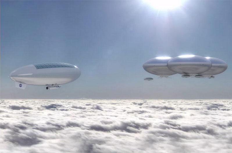 Humanos en la atmósfera de Venus