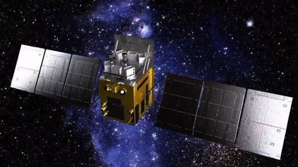 Representación artística del HXMT en órbita