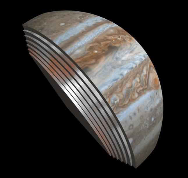 Interior de la atmósfera de Júpiter