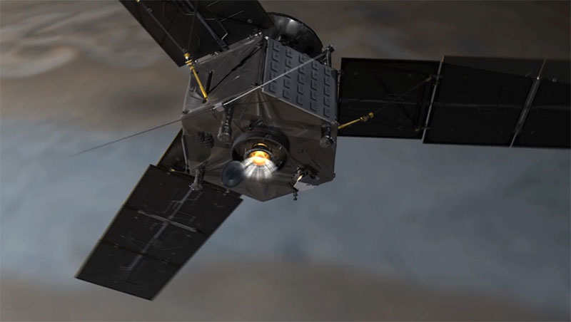 Juno con su motor en primer plano
