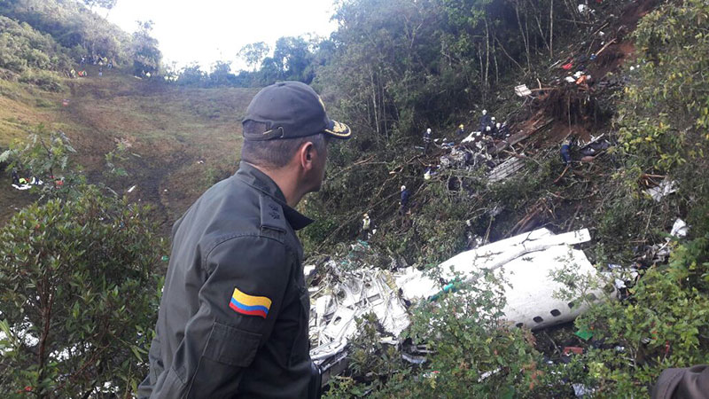 Restos del LaMia 2933 - Policía de Colombia
