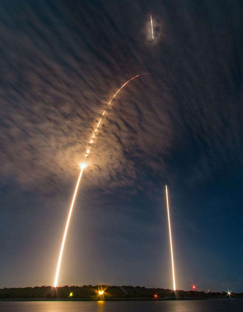 Lanzamiento de la Dragon SpX–9 por Michael Seeley