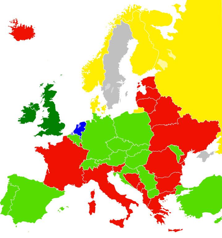 Libertad de imagen en Europa en julio de 2016
