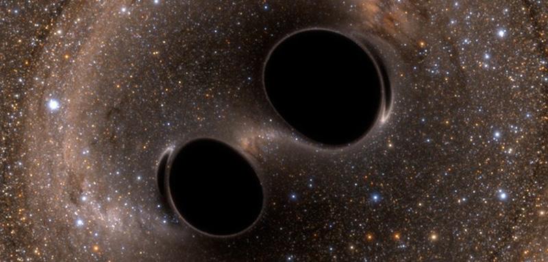 Impresión artística de los agujeros negros