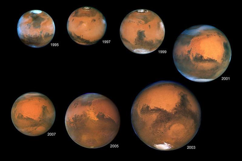 Marte en oposición por el Hubble