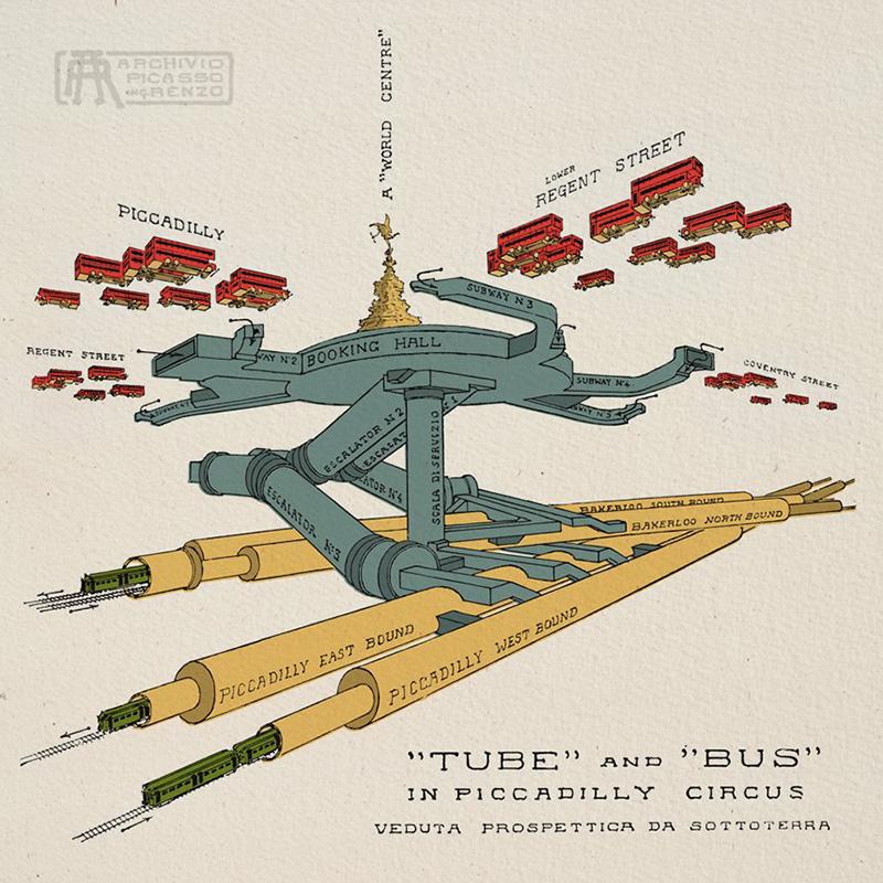La estación de metro de Piccadilly por Renzo Picasso