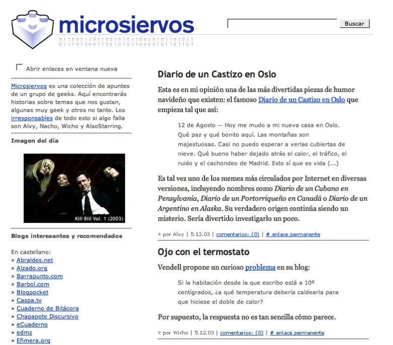 Microsiervos en diciembre de 2003