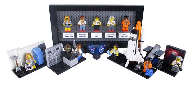 Mujeres de la NASA en Lego