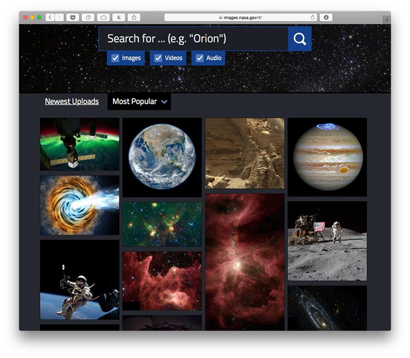 La NASA lanza un enorme archivo de fotos, videos y audio