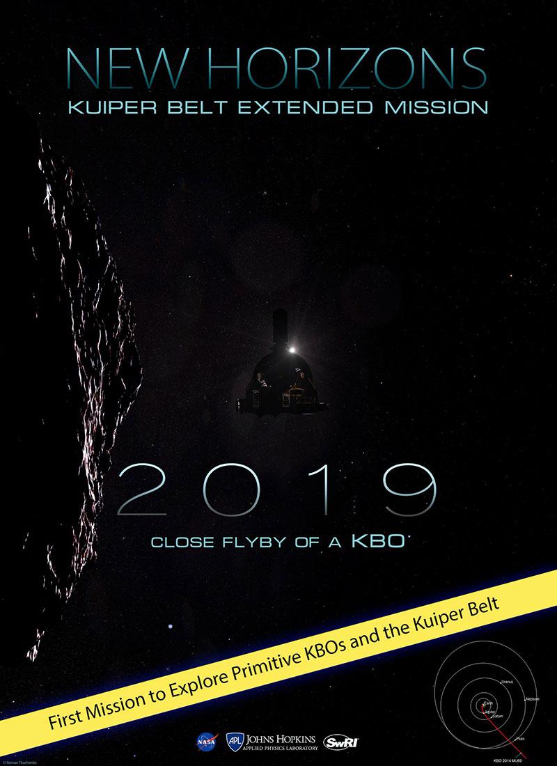 Póster no oficial de la misión extendida de la New Horizons