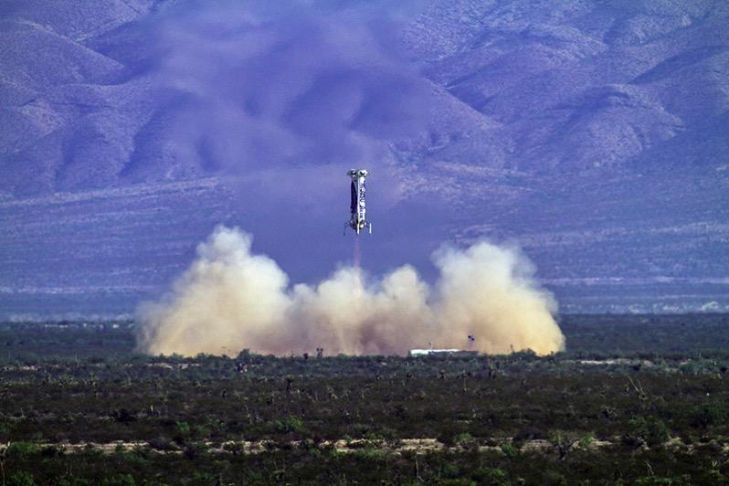 Cuarto aterrizaje de este New Shepard