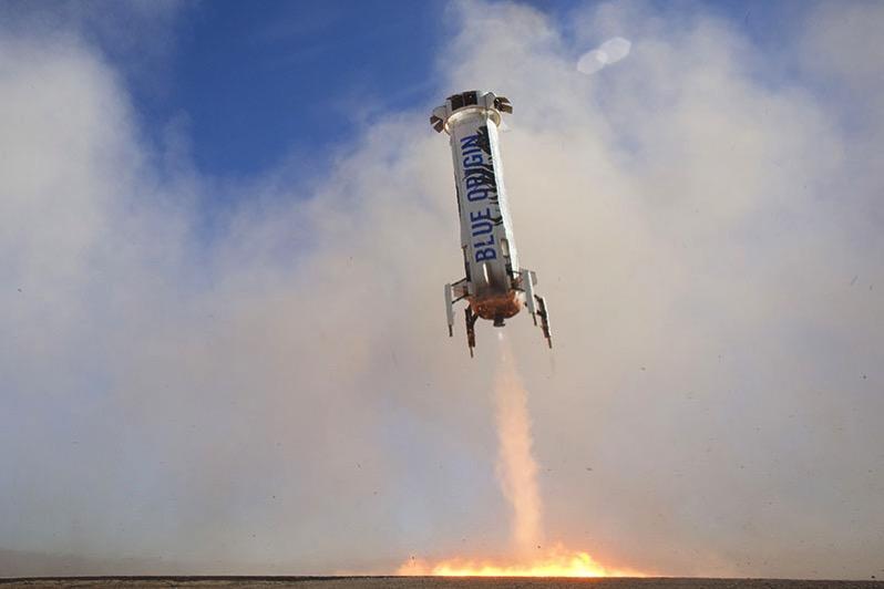 Tercer aterrizaje del New Shepard