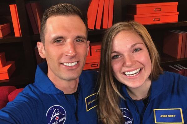 Jenni Sidey y Joshua Kutryk