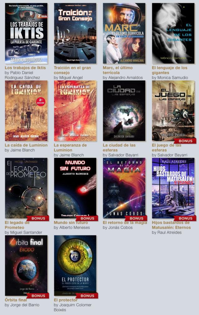 Pack de libros de ciencia ficción de ebrolis