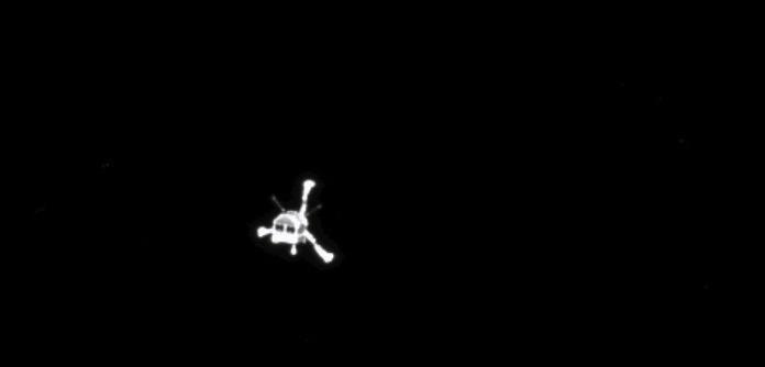 Philae durante su descenso hacia 67P