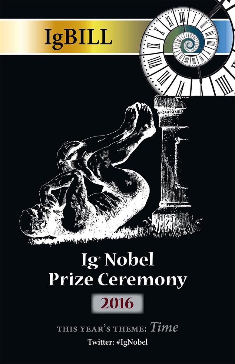 Póster Ig Nobel 2016