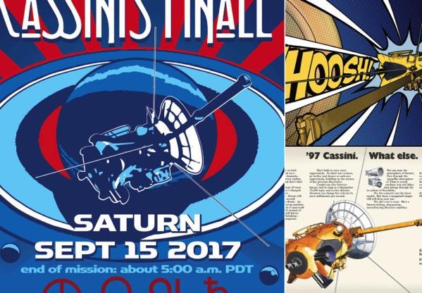 Pósteres retro de Cassini