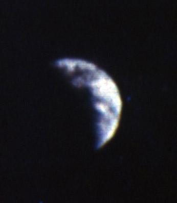 Primera foto en color de la Tierra desde la Luna