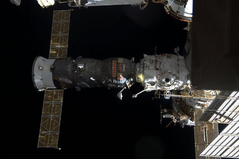 La Progress MS-05 acoplada a la EEI