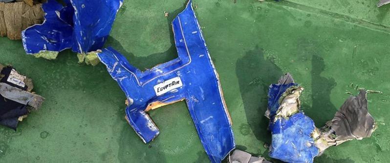 Restos del EgyptAir MS804