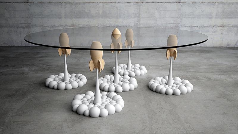 Rocket Coffee Table desde arriba