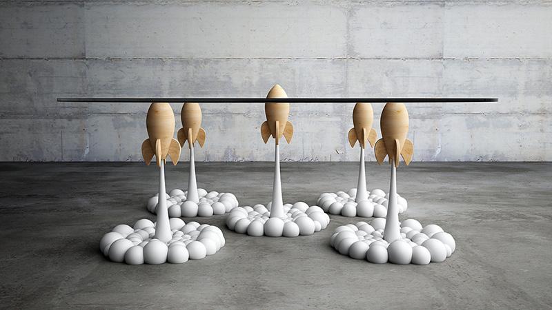 Rocket Coffee Table de lado