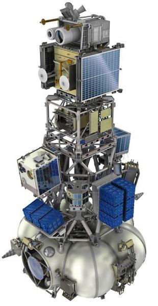 73 satélites de una tacada