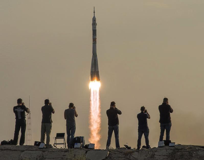Lanzamiento de la Soyuz MS-01