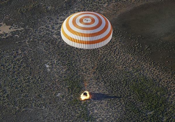 Aterrizaje de la Soyuz MS-03