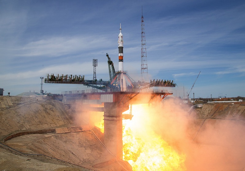 Despegue de la Soyuz MS-04