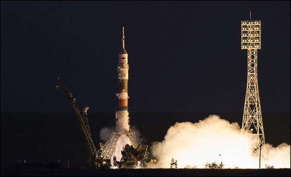 Despegue de la Soyuz MS-05