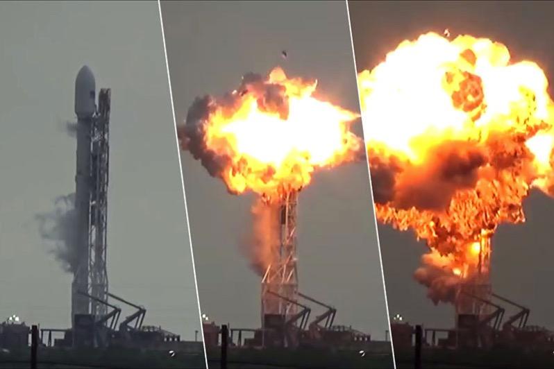 Explosión del Falcon 9 FT con el Amos–6 a bordo