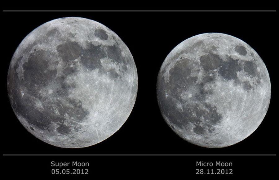 Super Luna y micro Luna por Catalin Paduraru