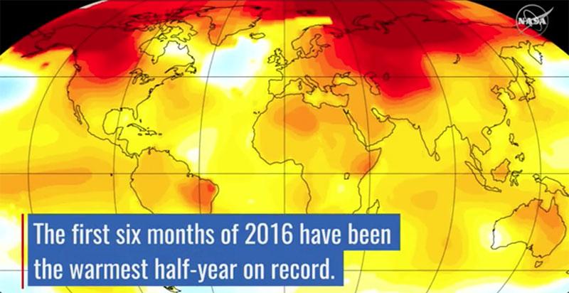 Temperaturas del primer semestre de 2016